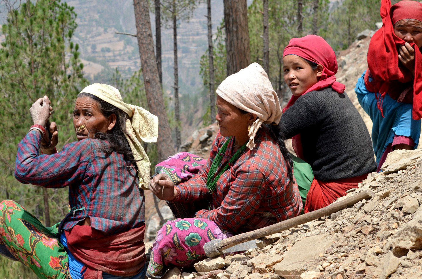 A group of women in Nepal's Mid-Western Region. Many women earn their livelihood through agriculture