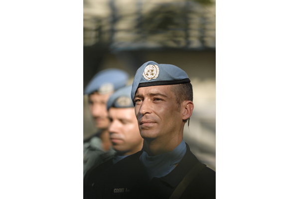 Portuguese peacekeeper, one of hundreds of uniformed personnel scheduled to leave in coming months