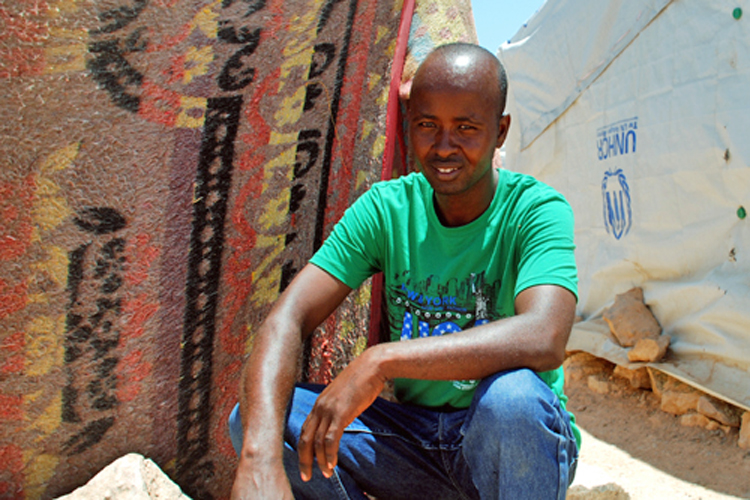Abu Bakr Huuti Othman, a Somali labourer who lives in Salloum camp