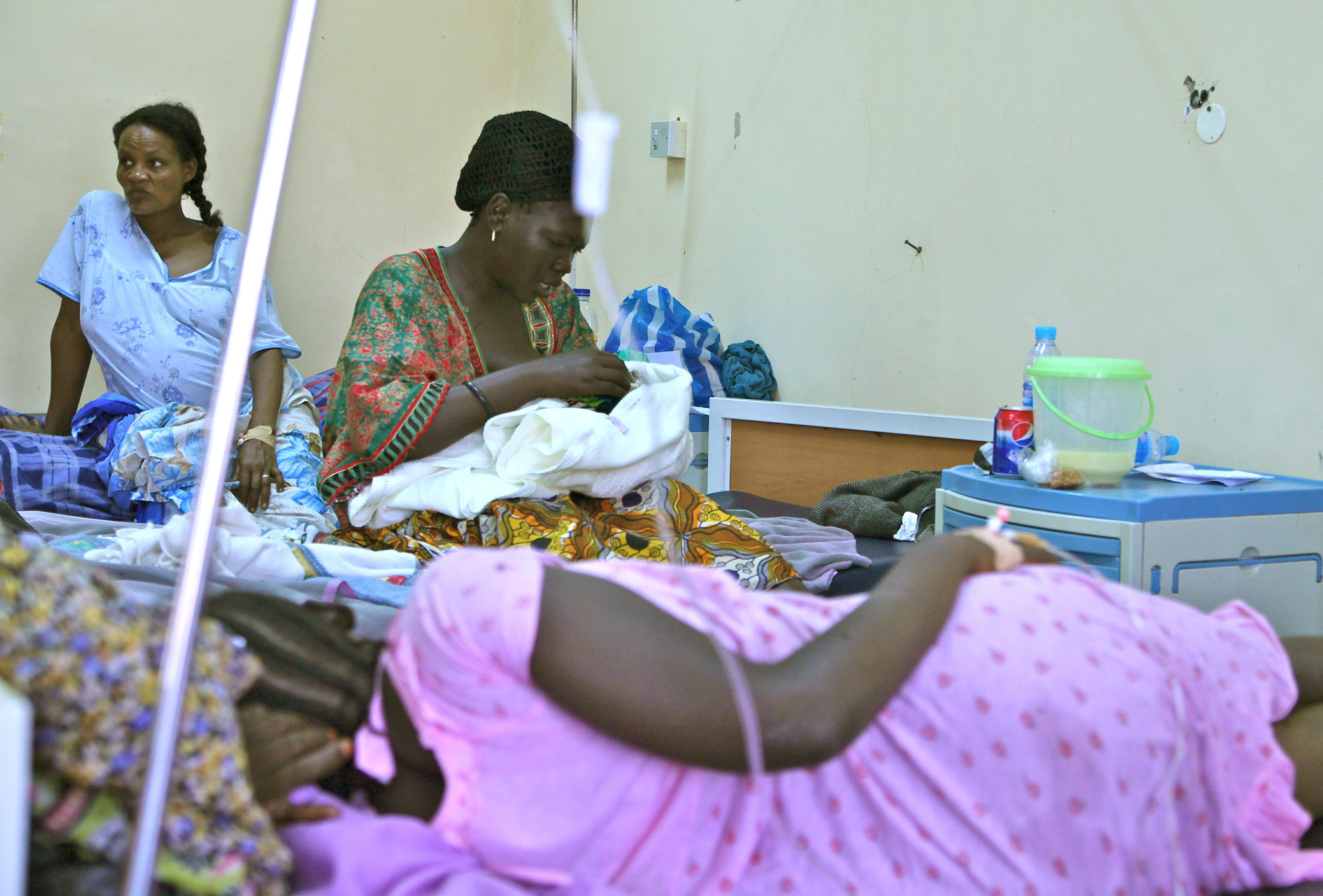 South Sudan's main hospital in Juba has just eight beds in its maternity ward; no trained midwives are available at night