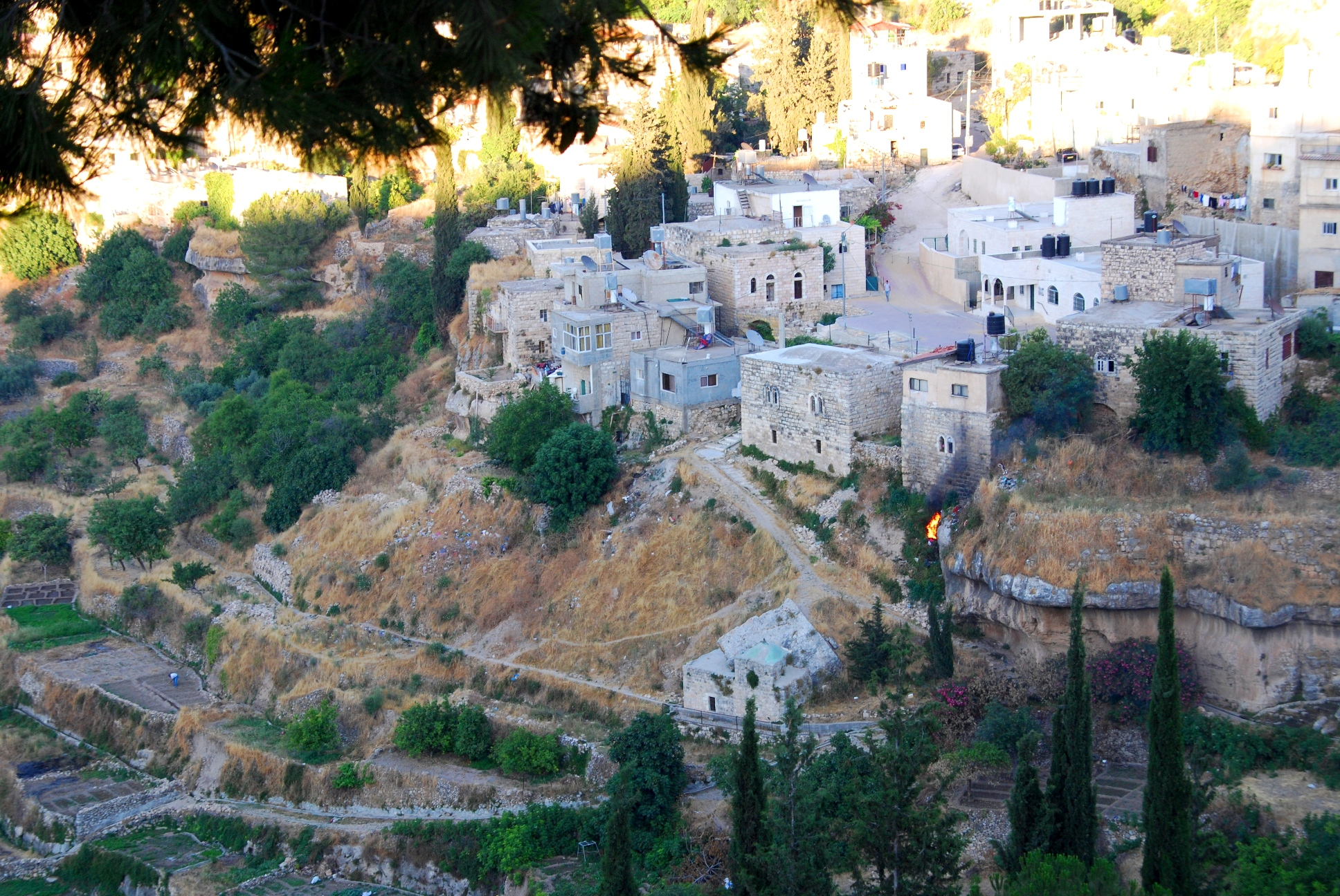 The village of Battir sits on top of a terrace farming system that is unique in the OPT
