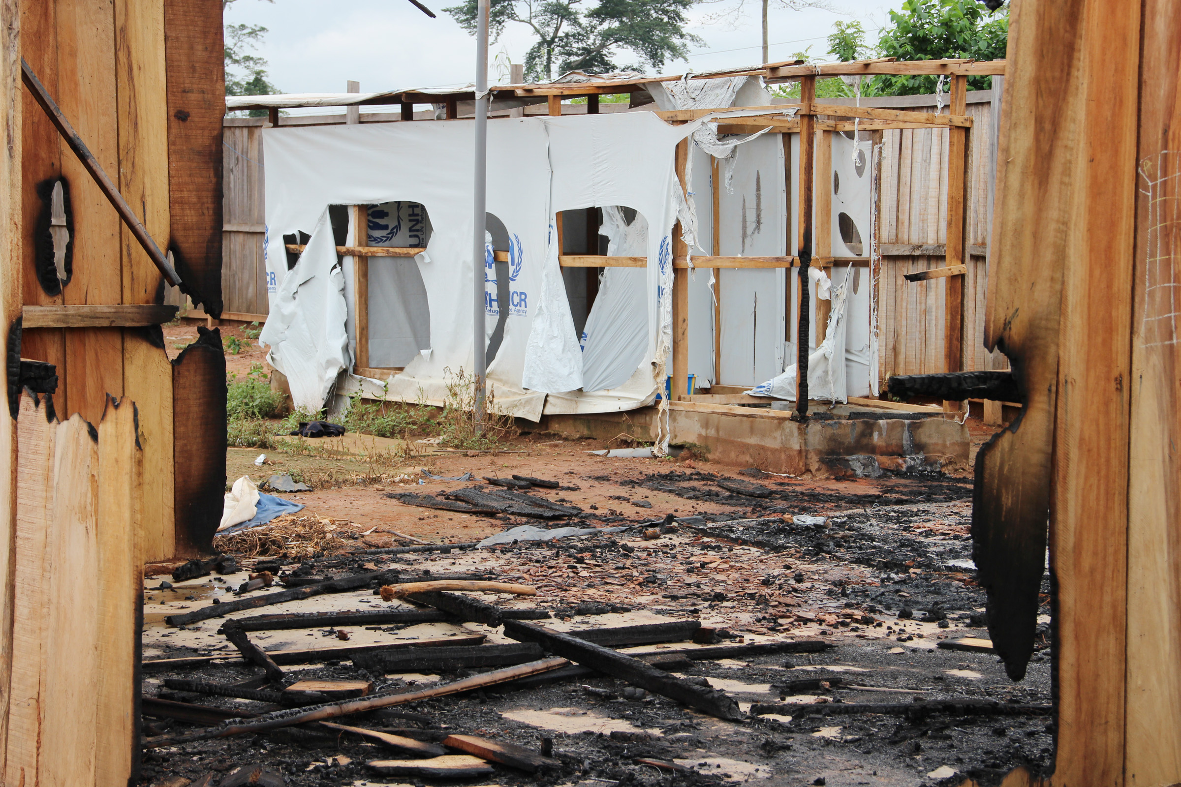 Nahibly IDP camp, Côte d'Ivoire's last remaining refuge for the displaced in the volatile western region was raided and torched on 20 July by a huge crowd, sending the more than 5,000 people there to flee for safety