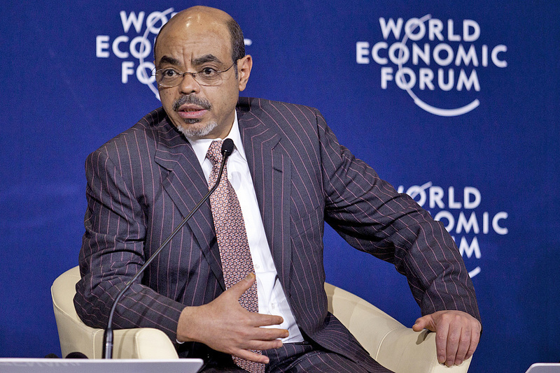 Meles Zenawi, Prime Minister of Ethiopia, captured during the Grow Africa: Transforming African Agriculture Session at the World Economic Forum on Africa held in Addis Ababa, Ethiopia, 9-11 May, 2012