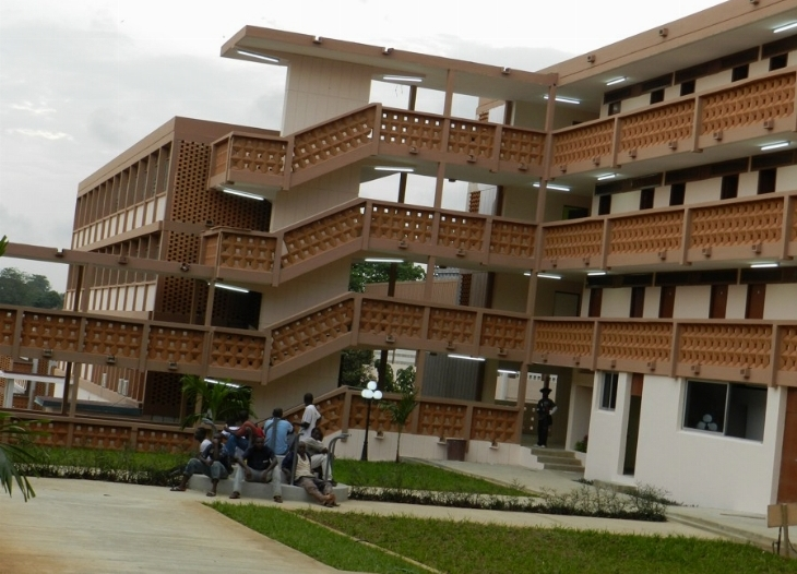 Students' hostel at Université de Cocody in Abidjan, Côte d'Ivoire's main city. There are fears of chaos when 61,000 students return nearly two years after the university was shut down during political violence