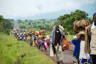 Fighting in the eastern Democratic Republic of Congo has forced hundreds of thousands of people from their homes