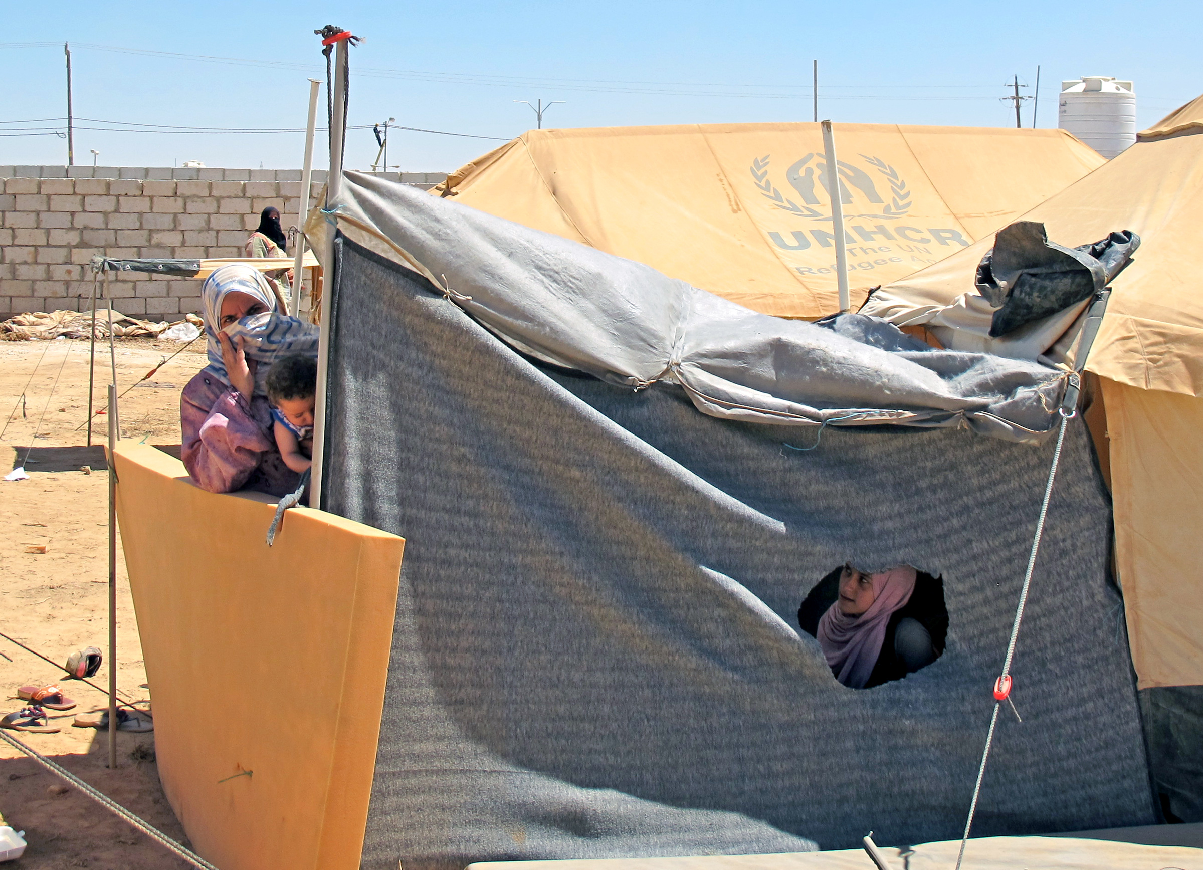 Syrian families have found shelter at Zaatari Camp in Jordan