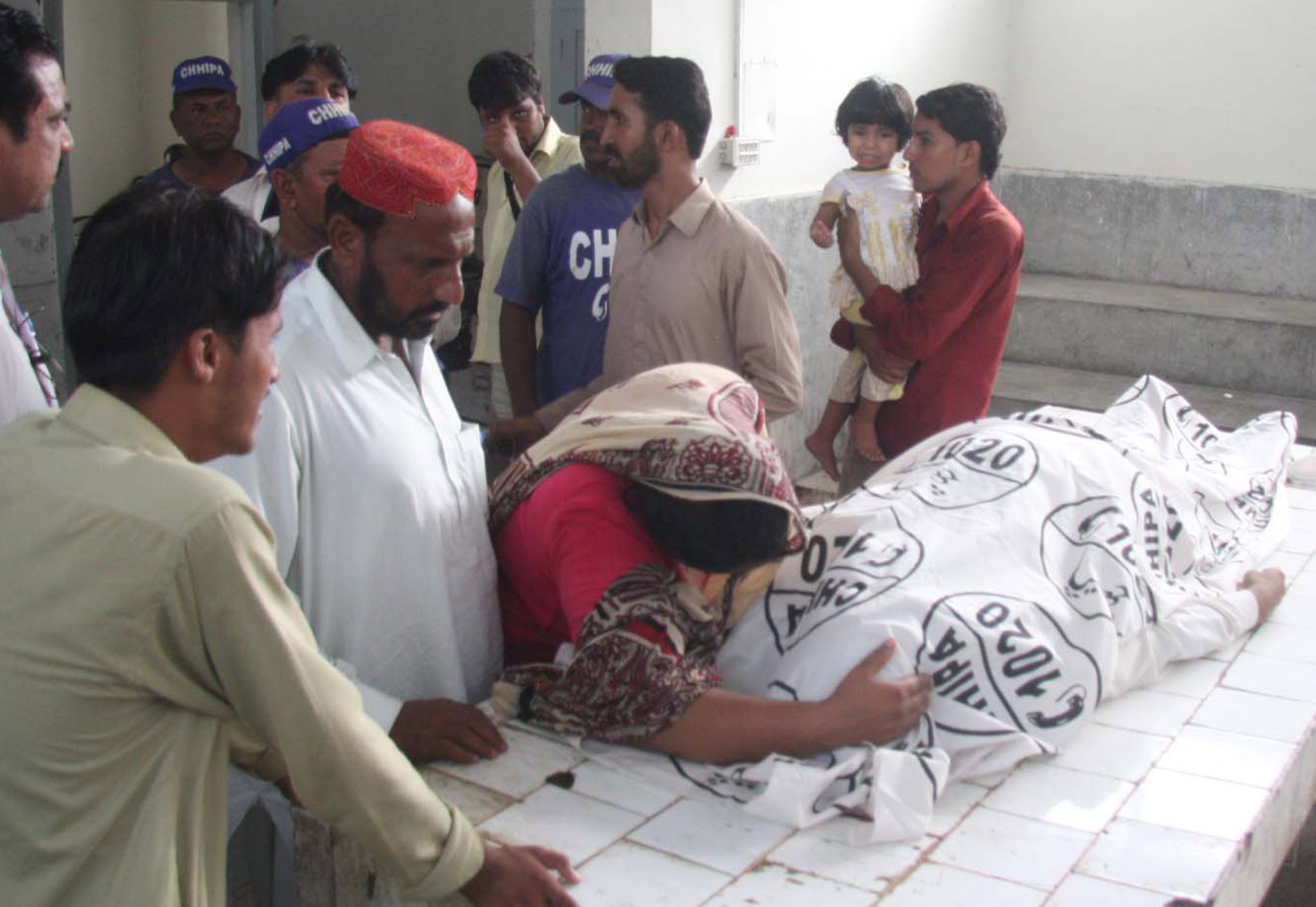Wailing over a person slain in Karachi