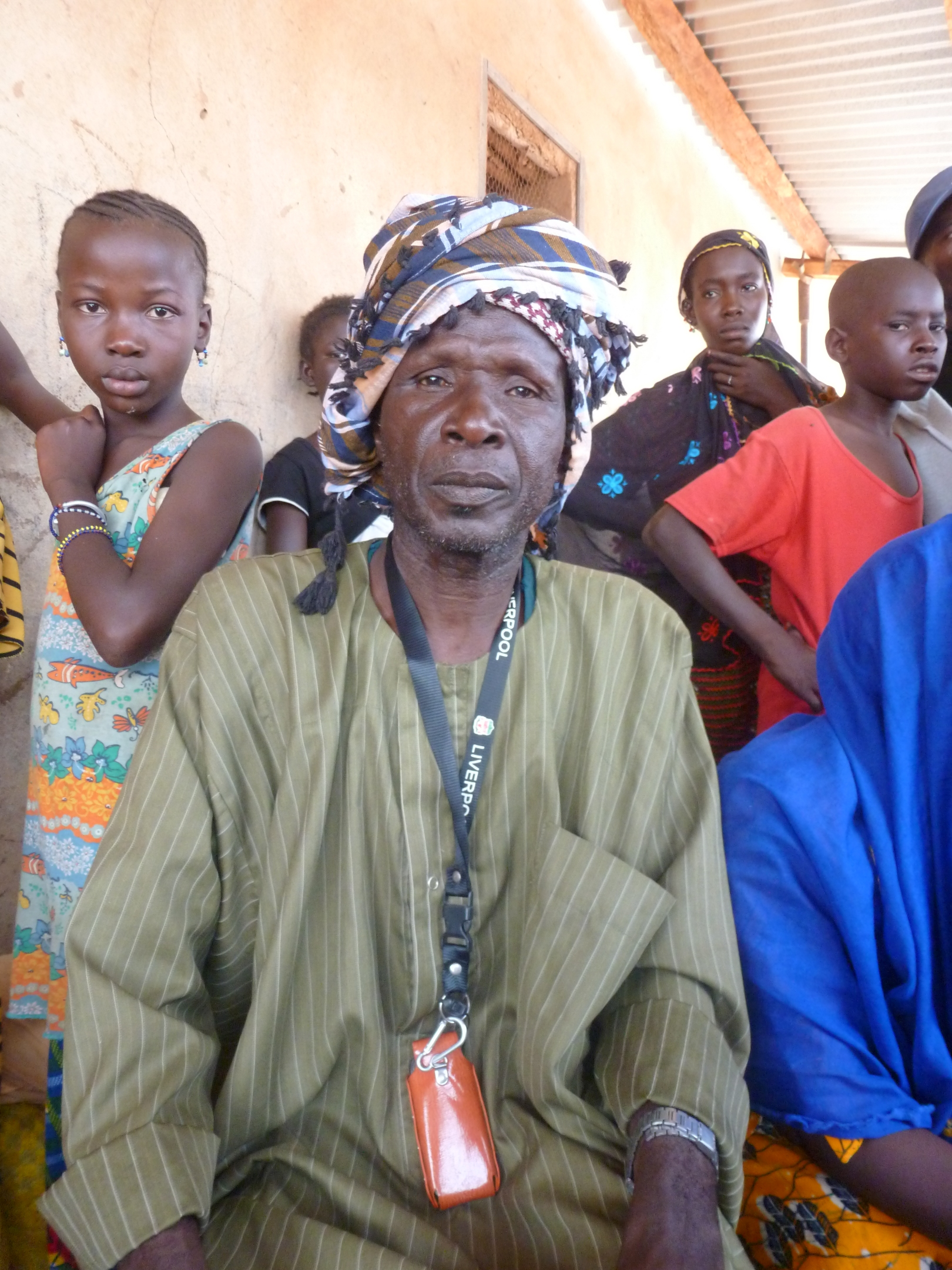 "Amadou Tiene is from Timbuktu and fled to Mopti with 3 other adults and 18 children. They receive 12kg of cereals, 3kg of pulses plus oil and salt per person per month. Most of the IDPs around Mopti come from Gao, Timbuktu and Niafunke. ""The most difficul"