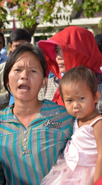 Landless rural dweller protesting in the capital of Cambodia in January 2012