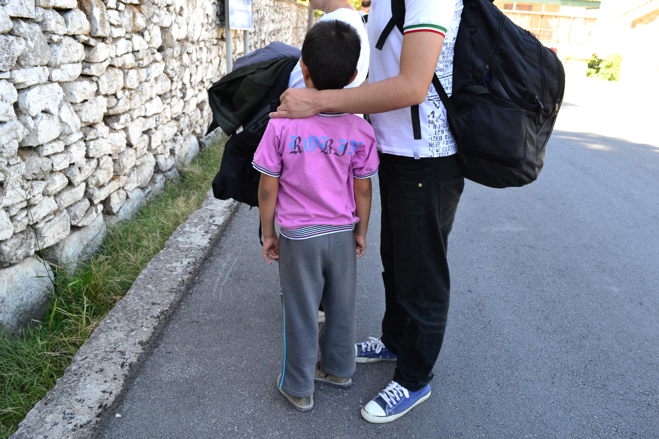 Emmad Saeed (not his real name) and his young nephew are among 23 Syrian refugees who recently arrived on the Greek island of Lesvos in a bid to reach Europe and safety