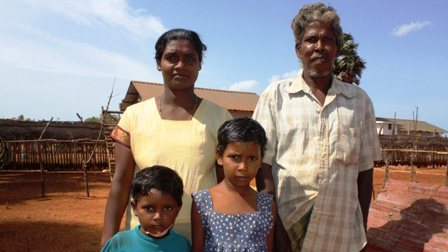 A recent returnee family in Jaffna District, northern Sri Lanka