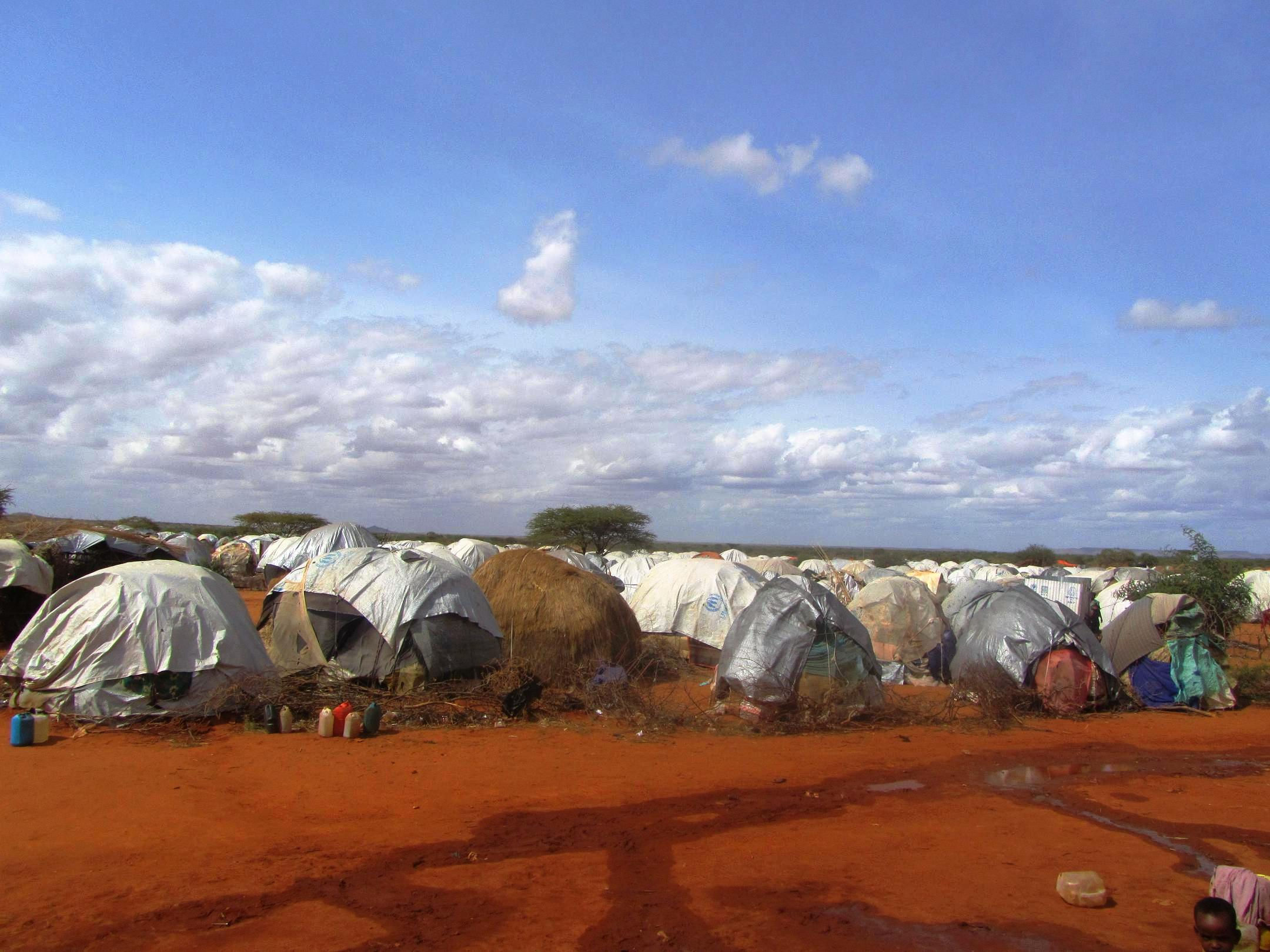 IDP settlement in Gedo, southern Somalia