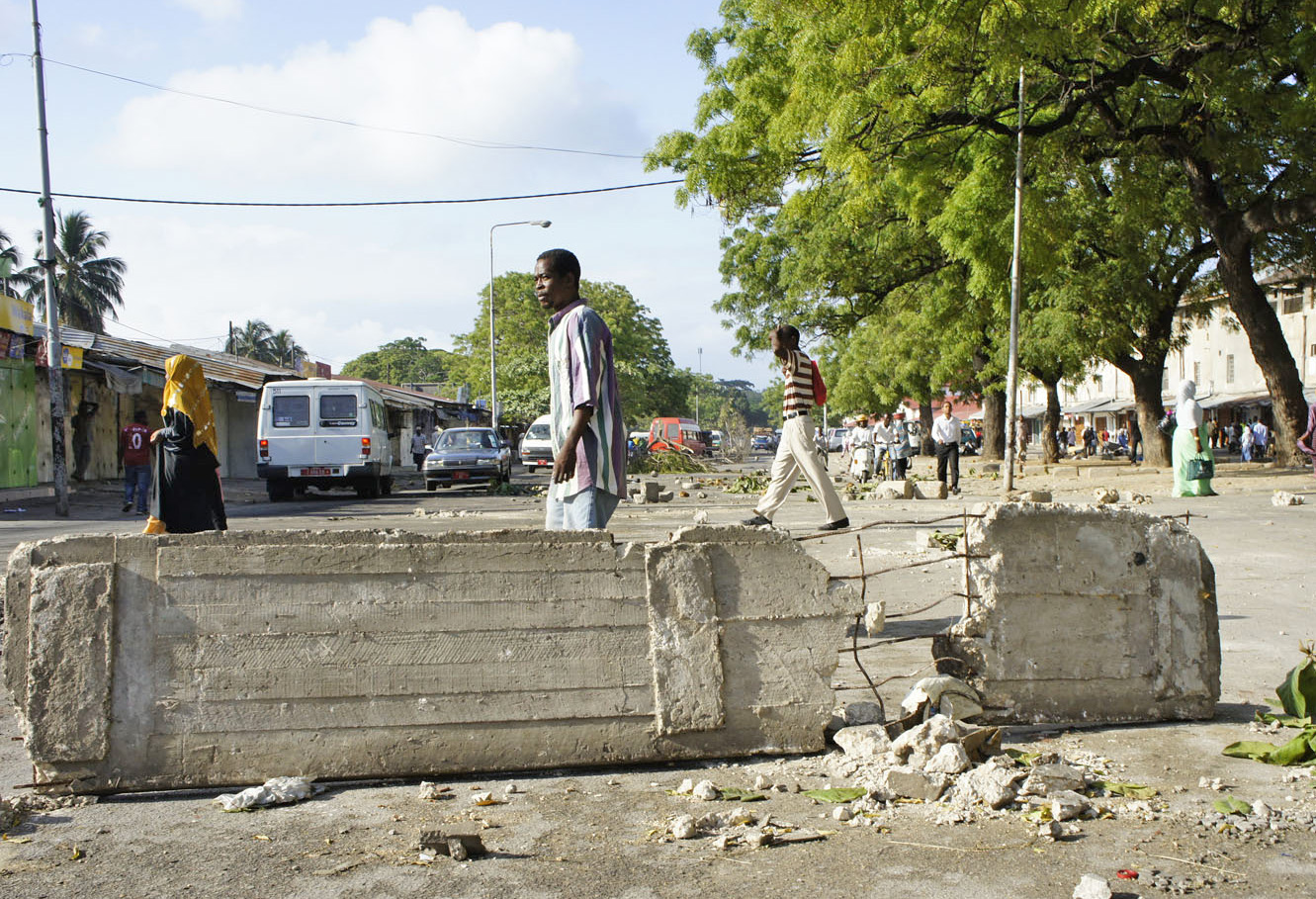 Riots in Zanzibar. October 2012