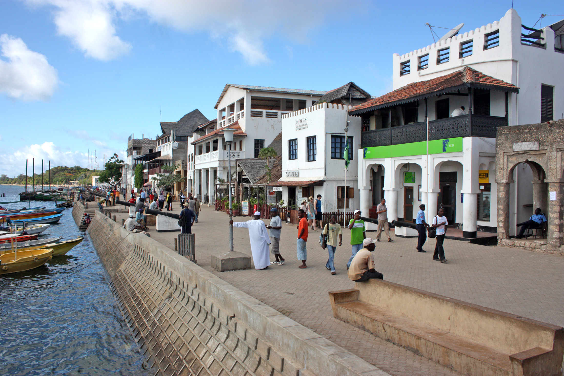 Lamu Island. The government says a proposed new port will create thousands of jobs and open up the region for development