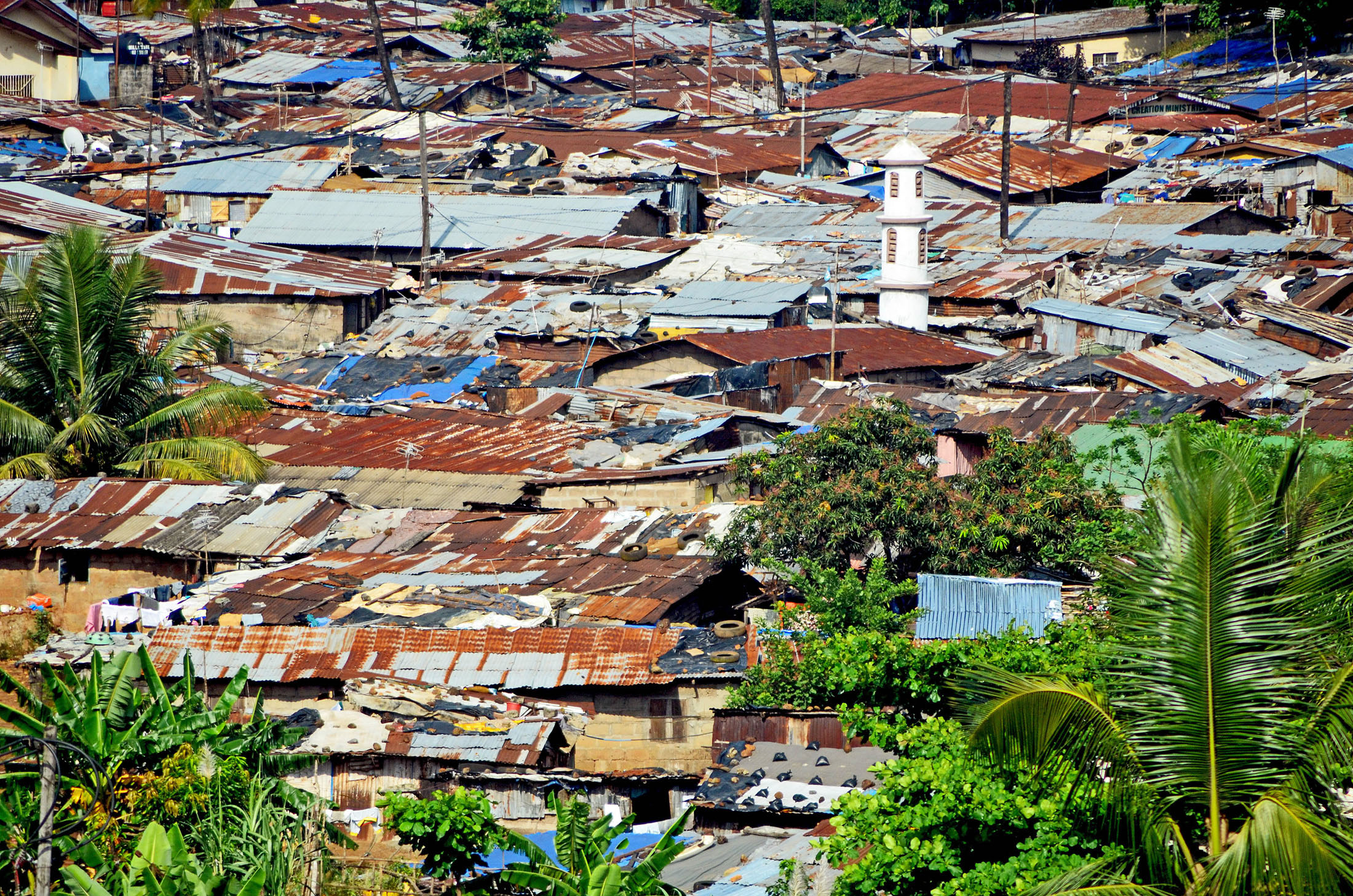 Despite economic growth, most of Sierra Leone's population lives below the poverty line