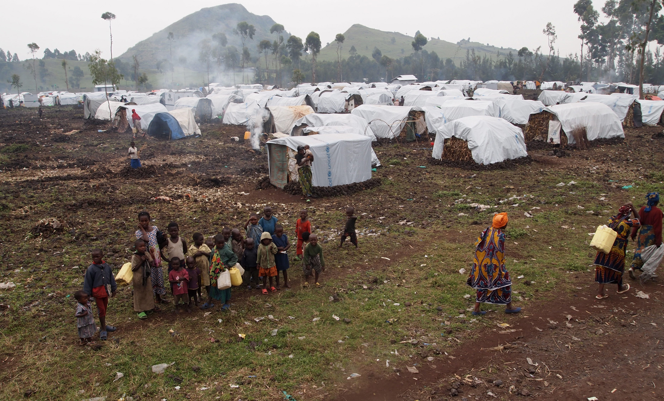 IDP camp at Kanyarucinya north of Goma