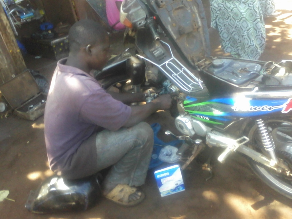 Chaka Dagnoko, Truck mechanic in Yirimadjo neighbourhood of Bamako. November 2012