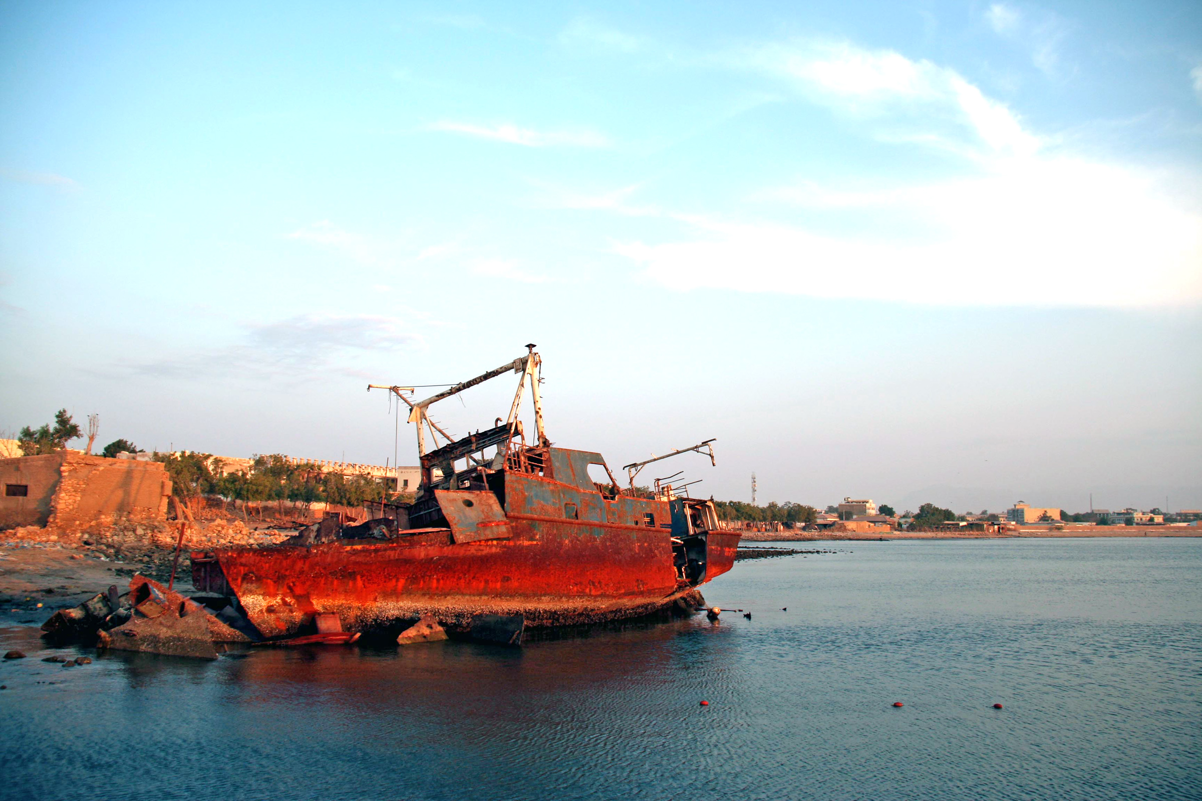Rusting hulks of capsized vessels decorate the waters around Berbera, a port city in the breakaway region of Somaliland