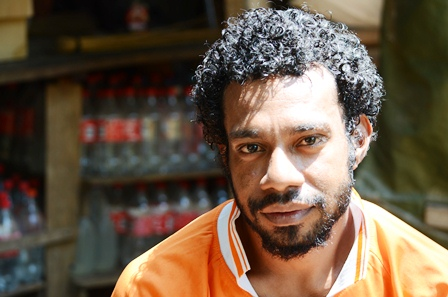 West Papuan refugee Dan Hanasbey, 27, has lived his whole life in Papua New Guinea and would like to stay. There are close to  9,300 West Papuan refugees in PNG today