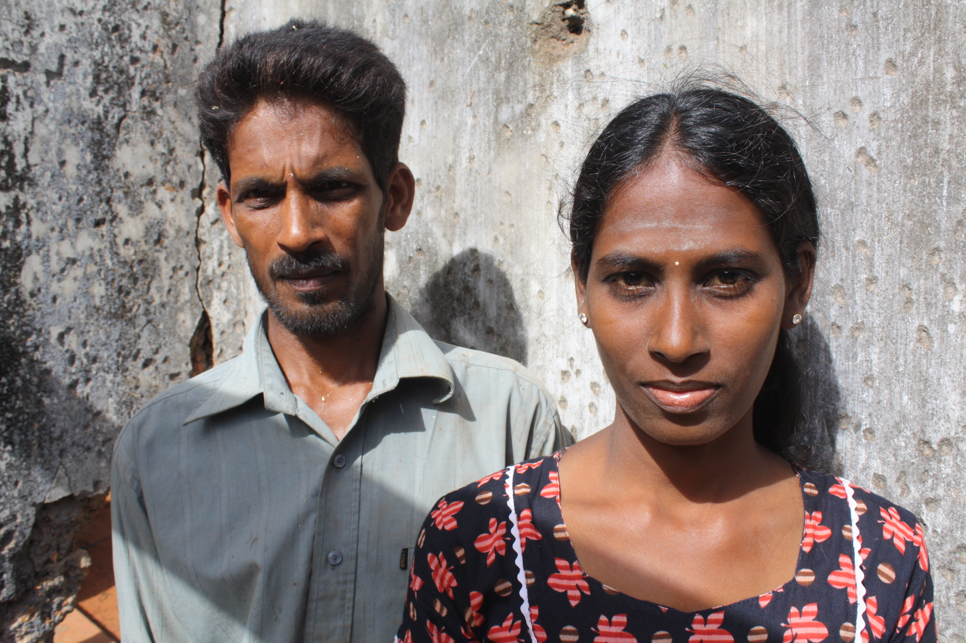 A recent returnee family in Jaffna and beneficiary the World Food Programme's cash voucher programme. As a result of the scheme, they can focus on rebuilding their home