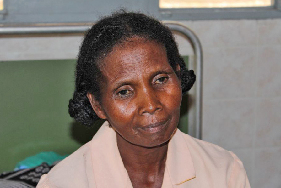 Nisehotsara, from Betraka, a village on Madagascar's east coast, developed obstetric fistula after delivering her tenth child. She is now recovering from corrective surgery funded by the UN Population Fund as part of its global Campaign to End Fistula