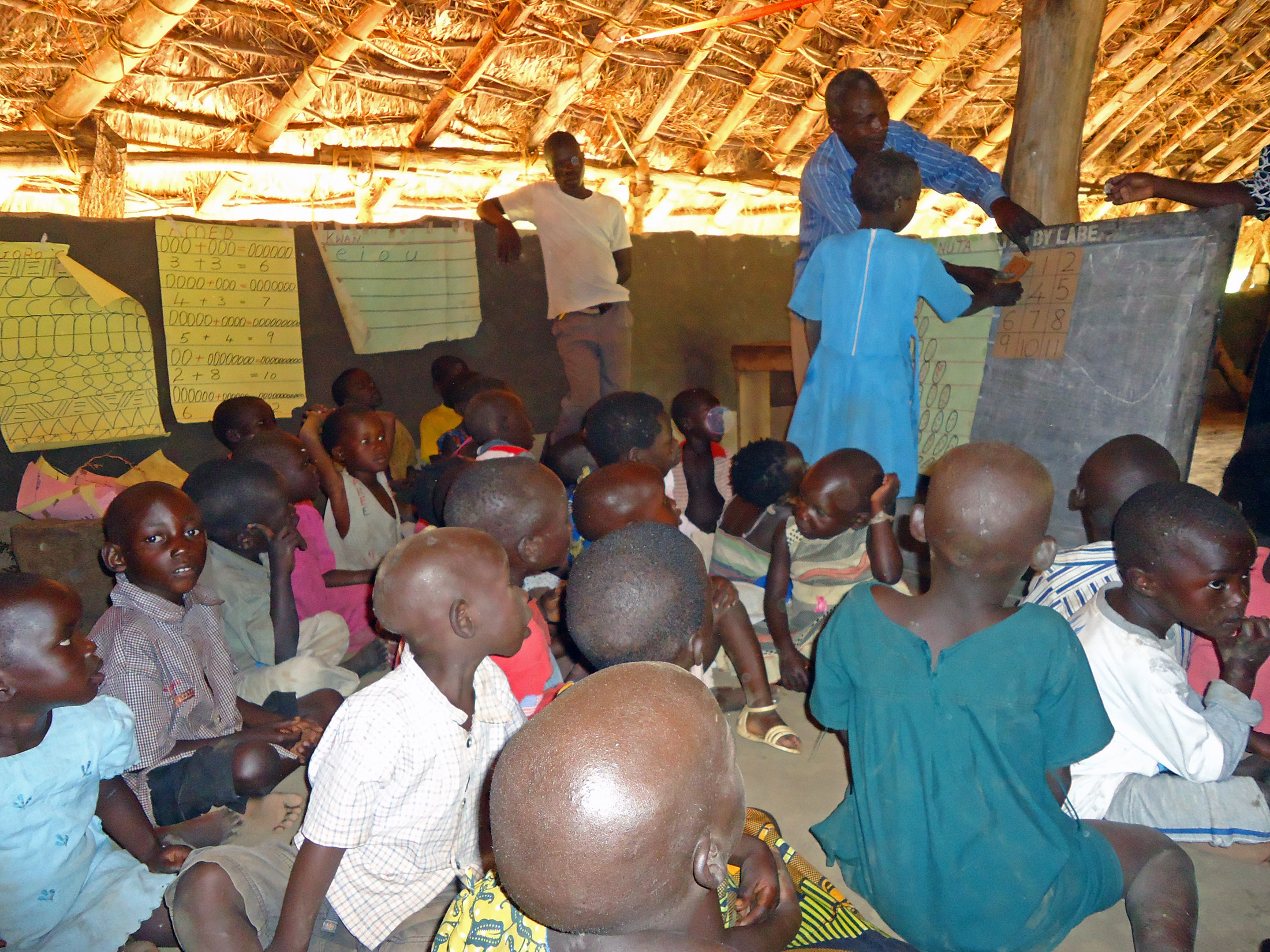 Children in a learning center in Gulu, Uganda where they are undertake interactive and class work. The children are having change in their lives in their respective villages