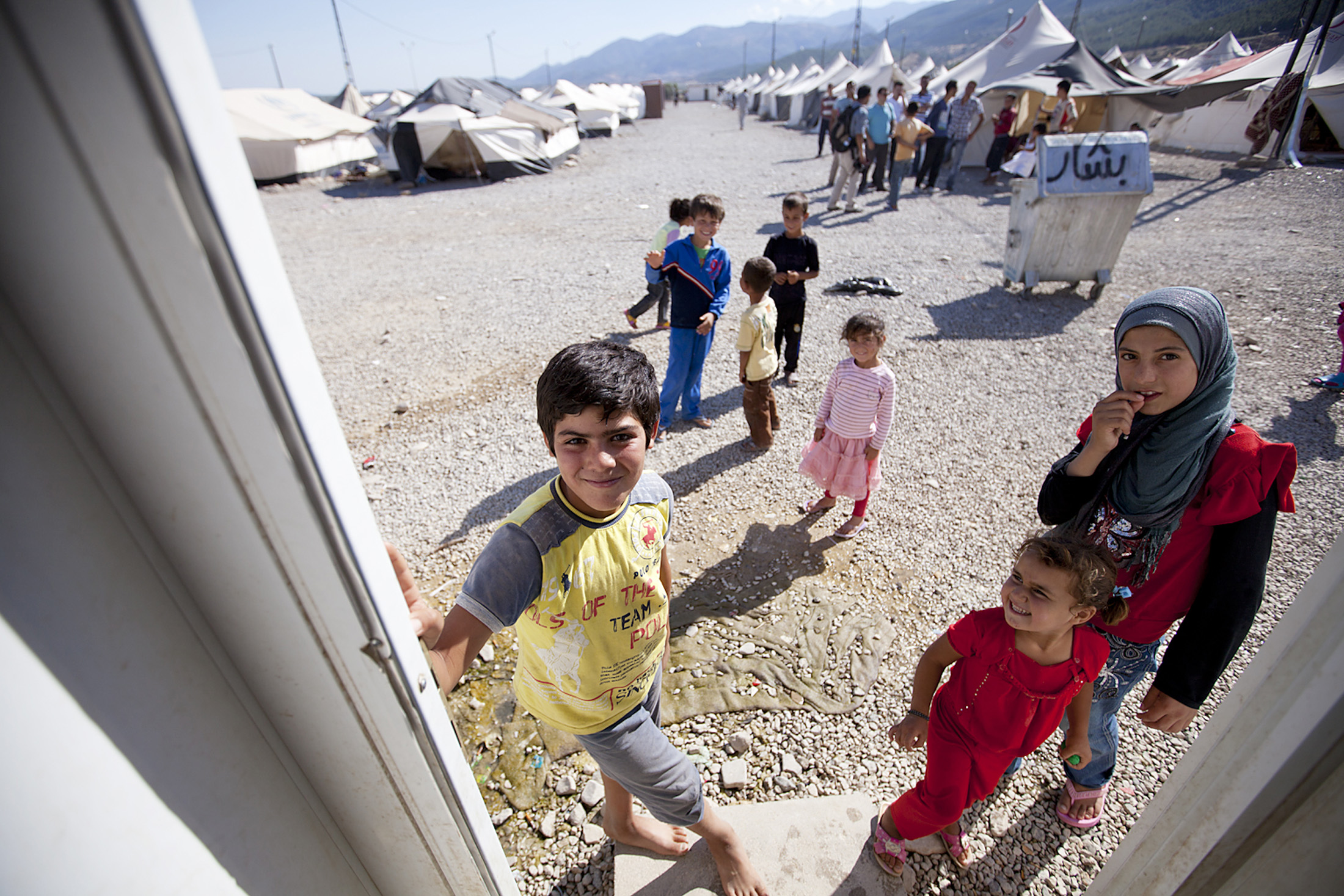 More than half of the refugees are children and teenagers (Islahiya camp, southern Turkey)