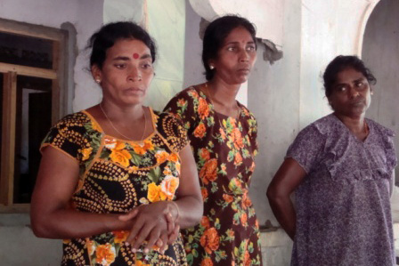 Residents from Mullaitivu who homes are on land currently occupied by the military. Thousands of conflict-displaced say they still can't return to their homes more than three years after Sri Lanka's decades-long civil war ended