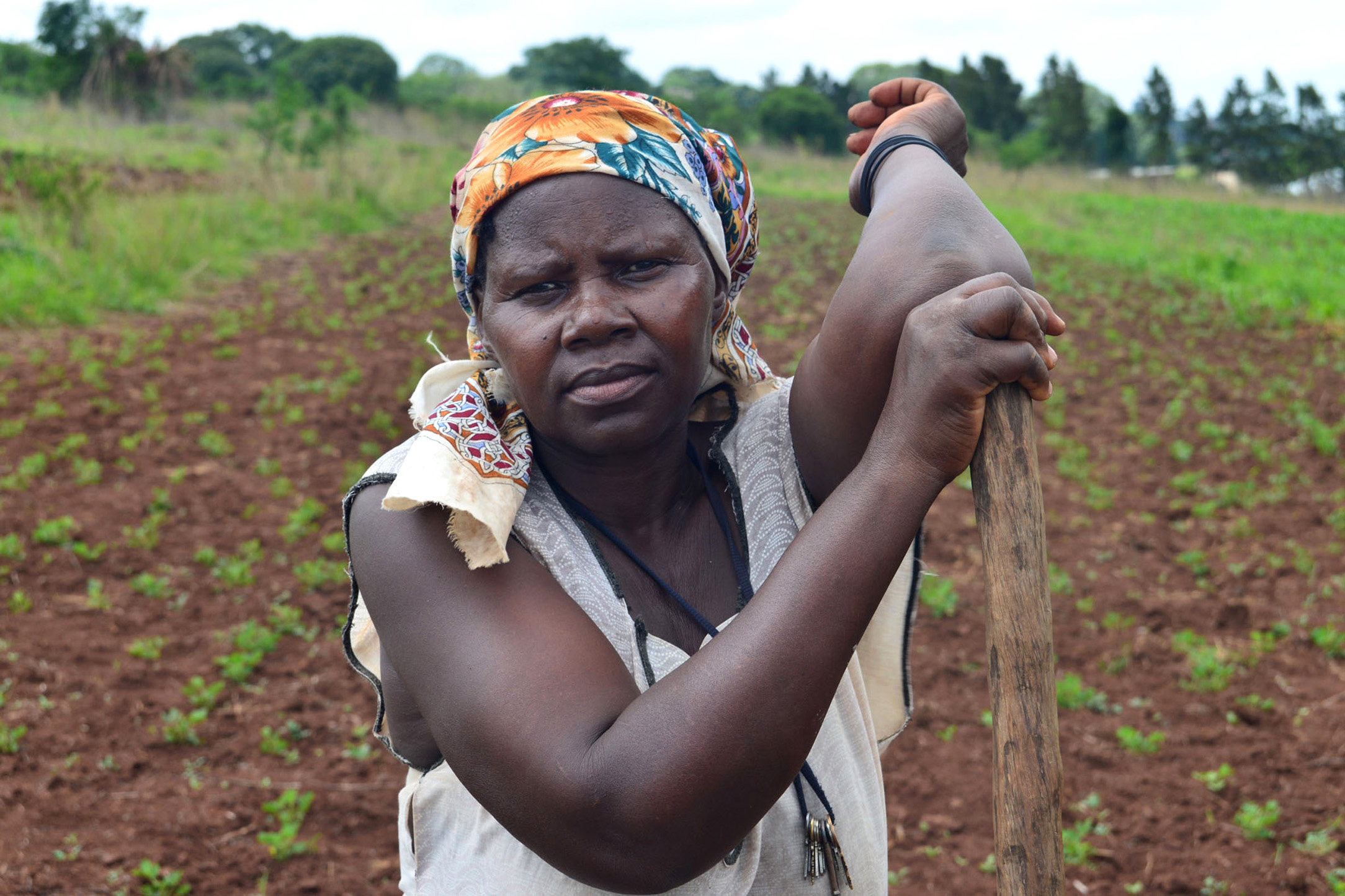 A smallholder farmer from the village of Shewula in Swaziland's northeastern Lubombo region