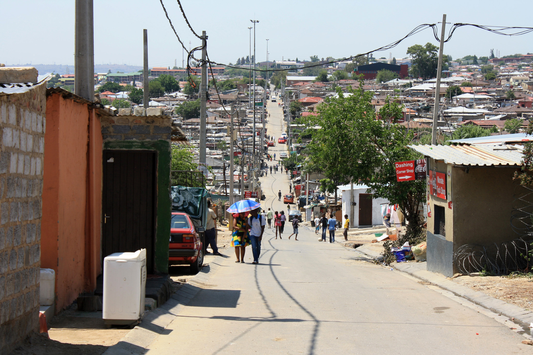 Alexandra, one of the oldest black townships in South Africa turned 100 in 2012 but living conditions have not improved considerably since apartheid