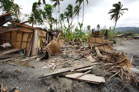 Mass devastation in the wake of Typhoon Bopha. More than 6.2 million people were affected by the storm which struck the southern island of Mindanao in December 2012