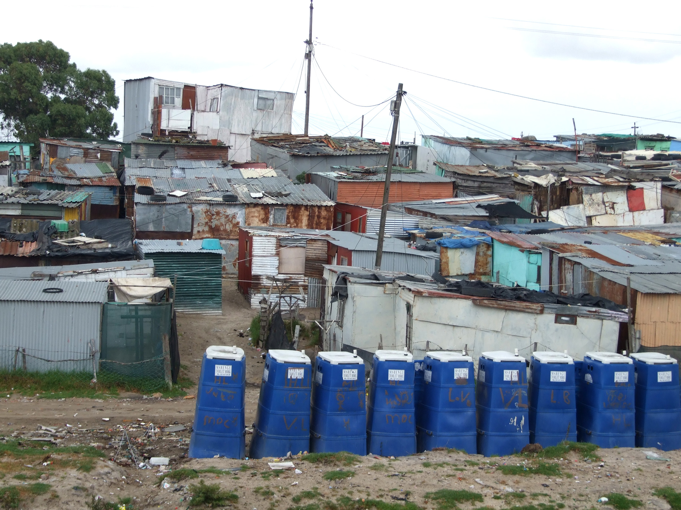 An informal settlement in the Cape Town township of Khayelitsha