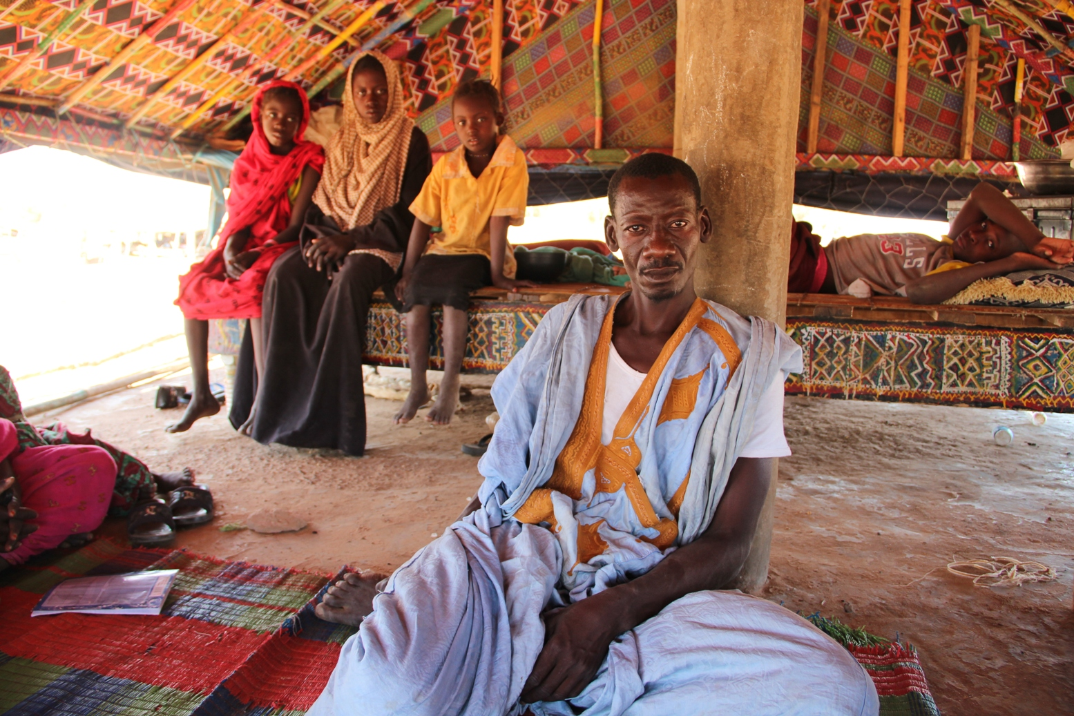 Ishmut Harabass in the village of Thirouth, a dozen km outside of kaedi in Gorgol region, Mauritania. The village grain bank had no stocks in 2012