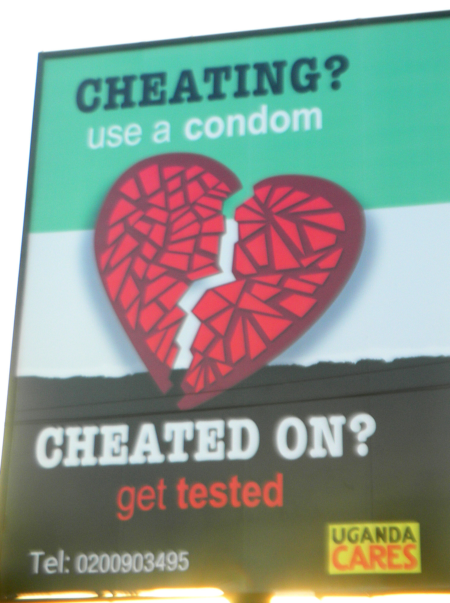 An HIV prevention billboard in Kampala, Uganda