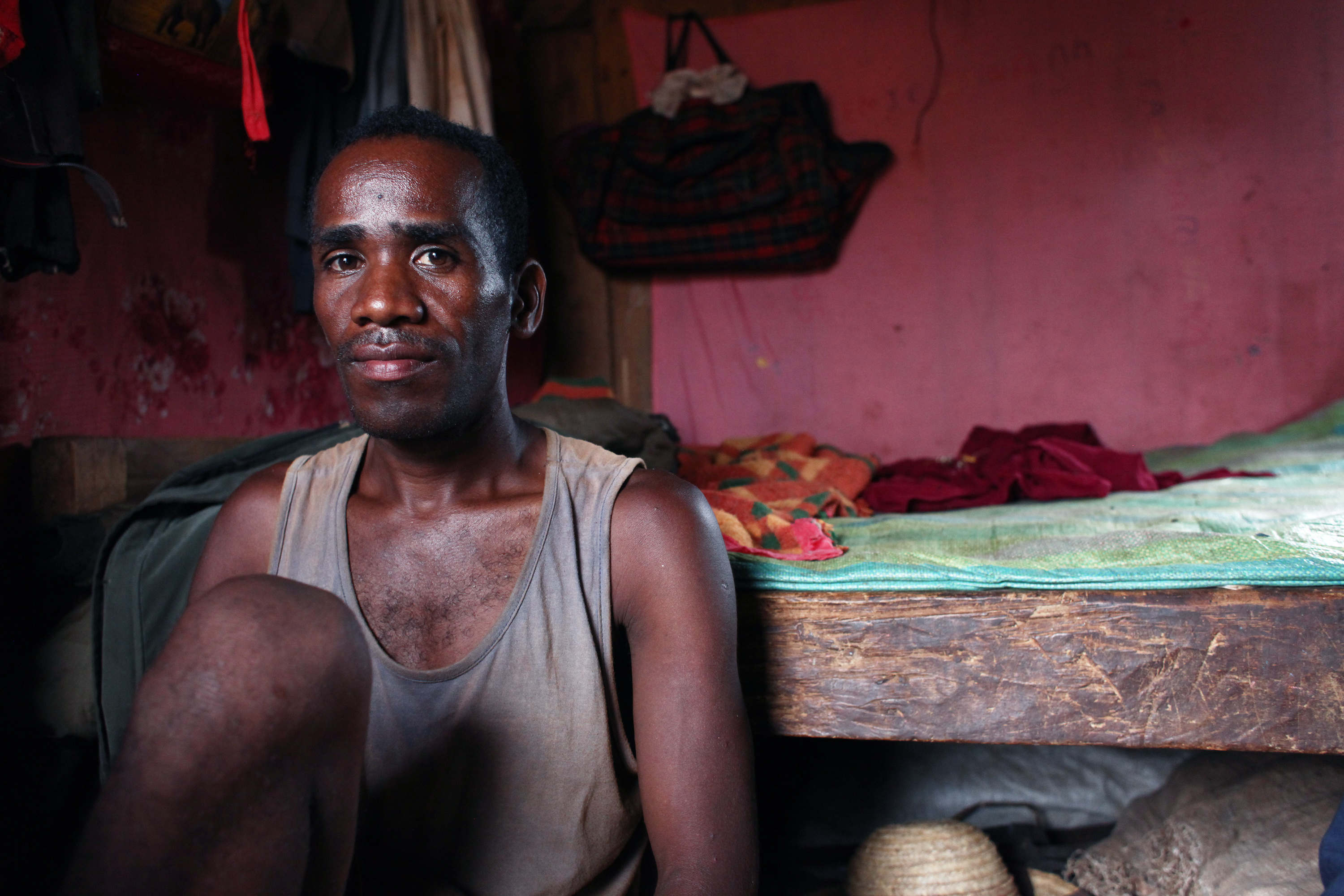 Jean-Babtiste Manjarisoa joined a volunteer brigade to fight locusts in south Madagascar