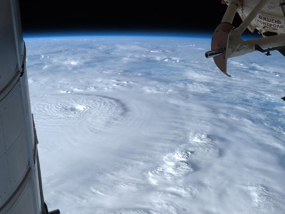This image of Super Typhoon Bopha was taken by NASA astronaut, Kevin Ford in December 2012 from the International Space Station, as the storm bore down on the Philippines