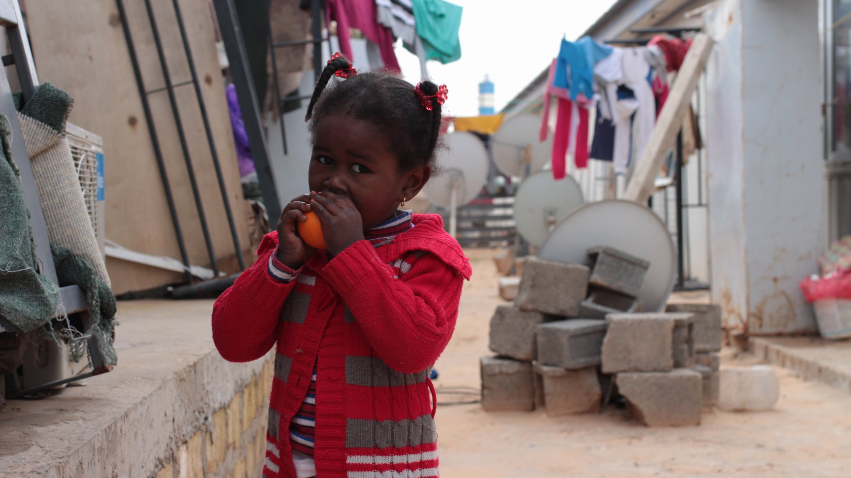 A Tawergha child at an IDP camp in Tripoli two years after the Libyan revolution, Feb 2013