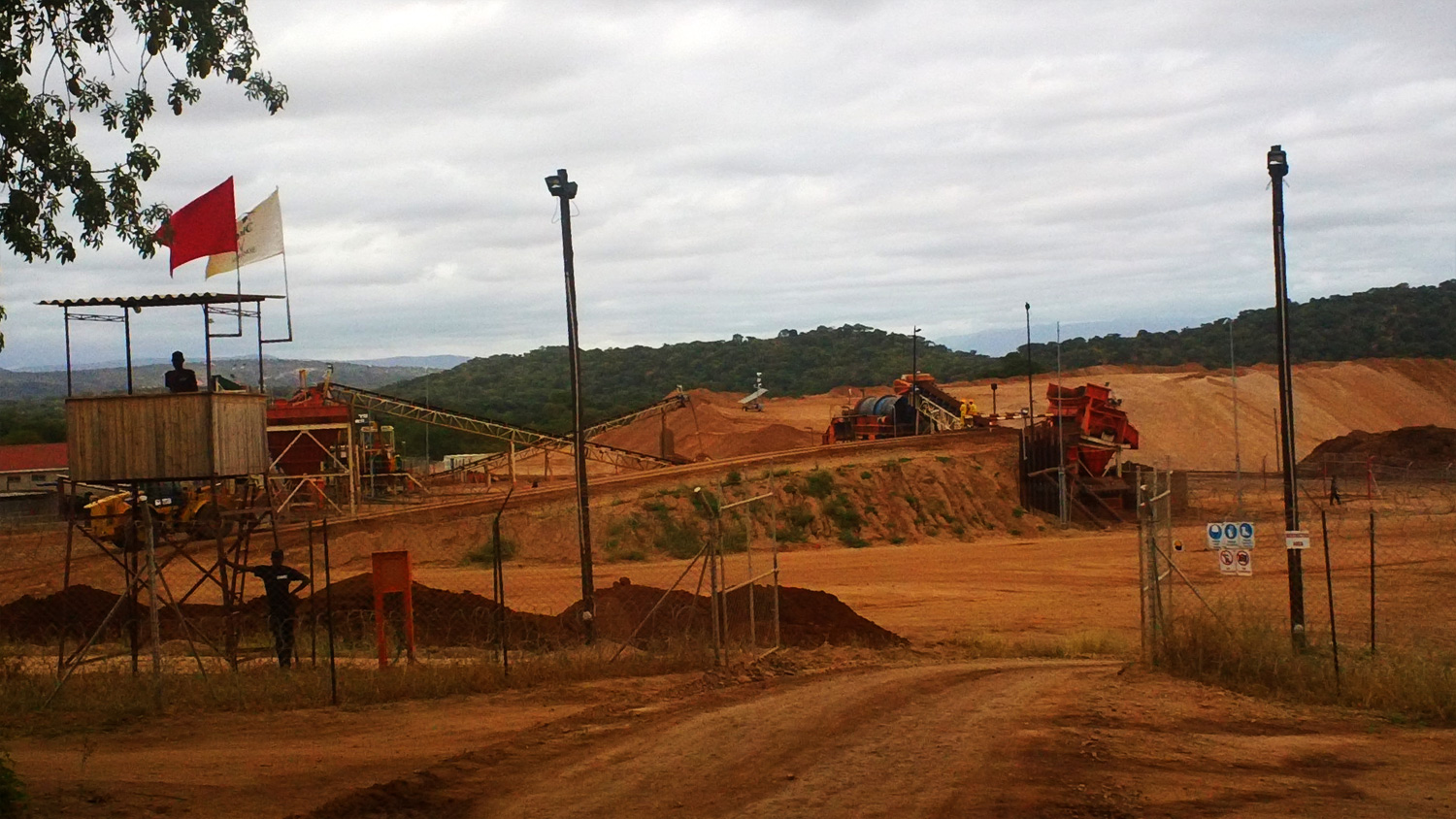 Security at the Marange diamond fields, about 90km southeast of the Zimbabwe city of Mutare in Manicaland province
