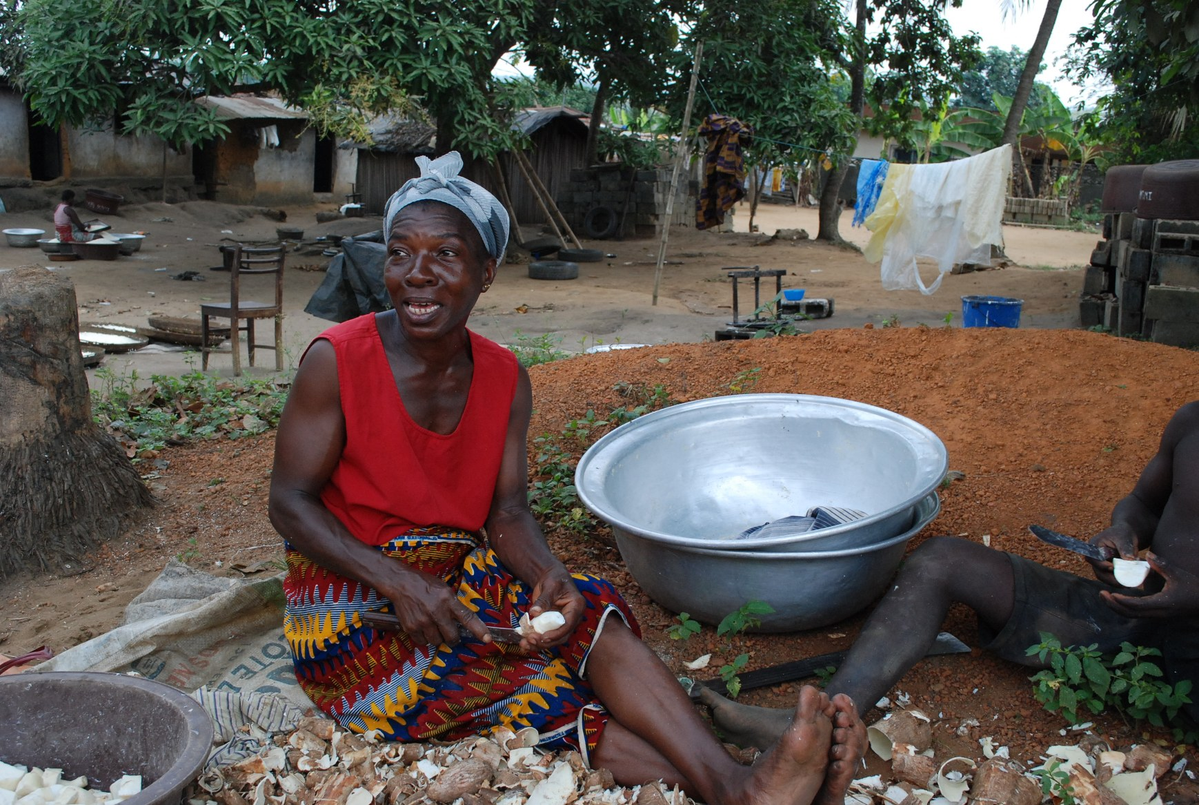 Madeleine Coulibaly is a cassava farmer in Debrimou region, 50km west of Abidjan