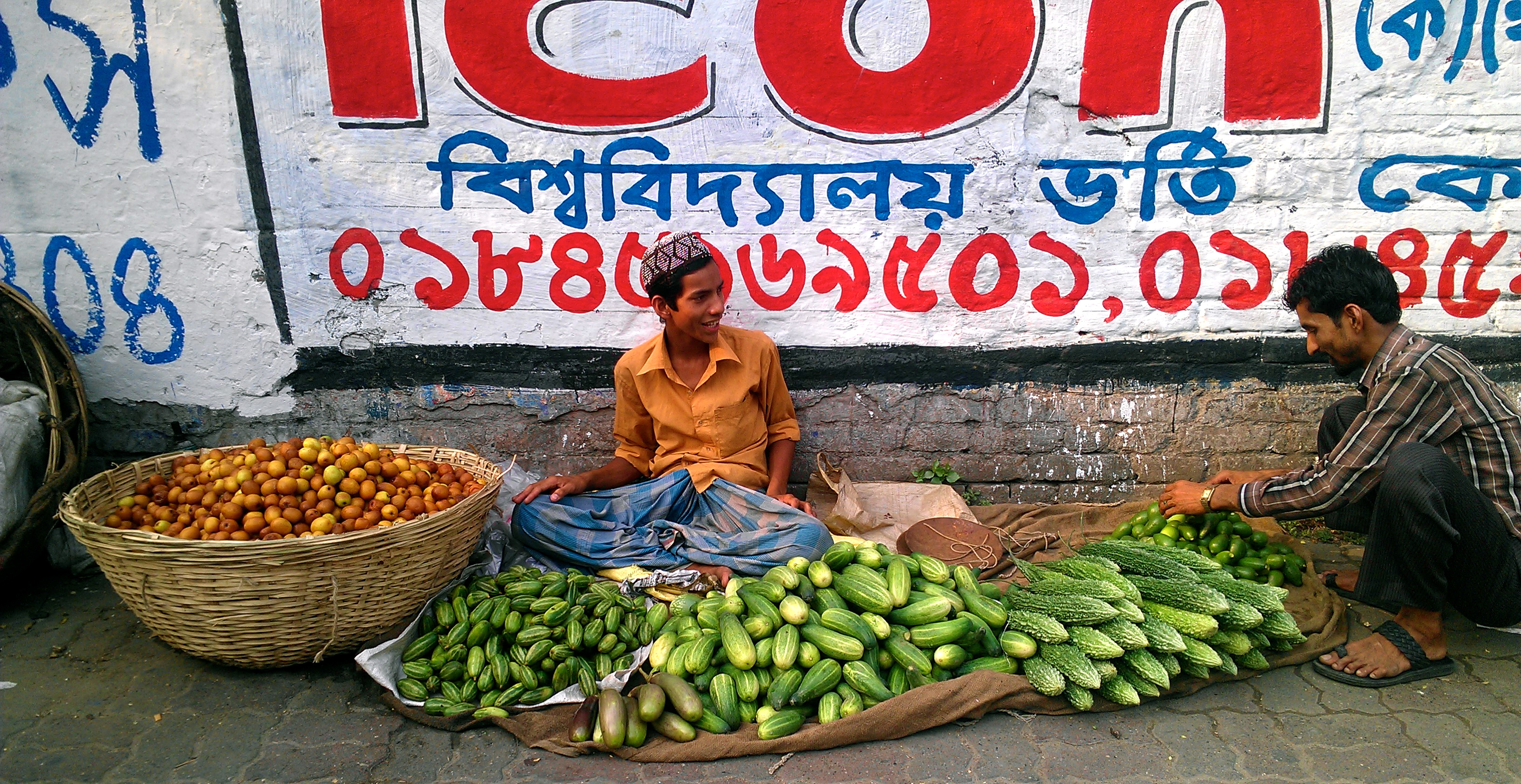 Bangladesh vegetable street vendor