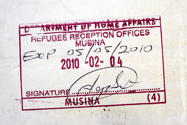 Asylum seekers in South Africa must report to a refugee reception office every few months to renew their permits while they wait for a final decision on their applications for refugee status
