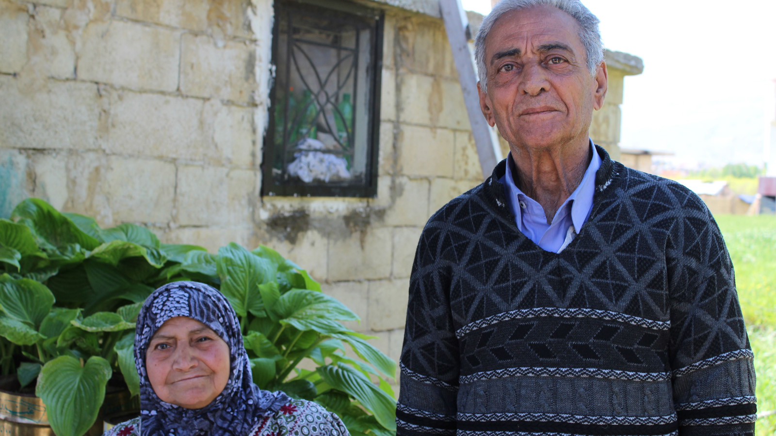 Sadika and Mohammad fled the conflict in Syria after Yarmouk neighbourhood, just outside the capital Damascus, was bombed in December 2012. They now live with a Lebanese family that has been hosting them in the Beka'a Valley for five months.