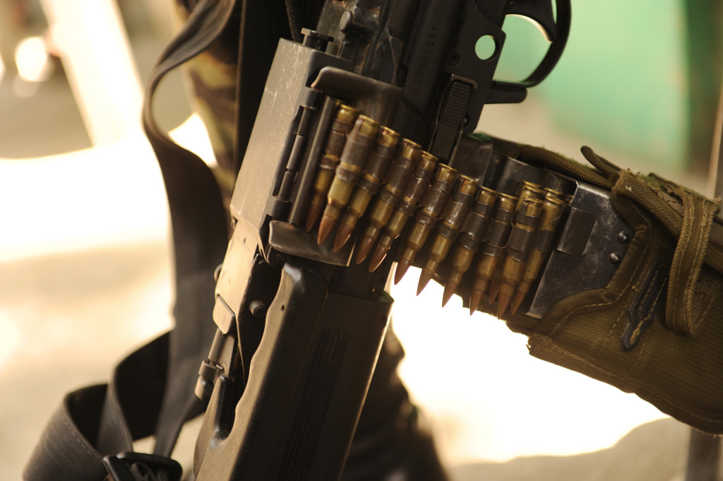 An Israeli manufactured light machine gun in use with the Bangsamoro Islamic Armed Forces (BIAF), the armed wing of the Moro Islamic Liberation Front (MILF)