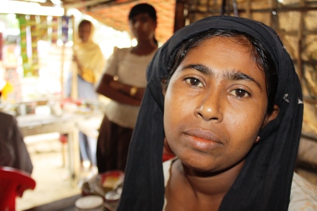 Noon Na Ha, 35, runs a small tea shop the Thea Chaung IDP camp outside Sittwe. The mother-of-five children is one of more than 100,000 Muslim Rohingya IDPs displaced following two bouts of deadly sectarian violence in 2012