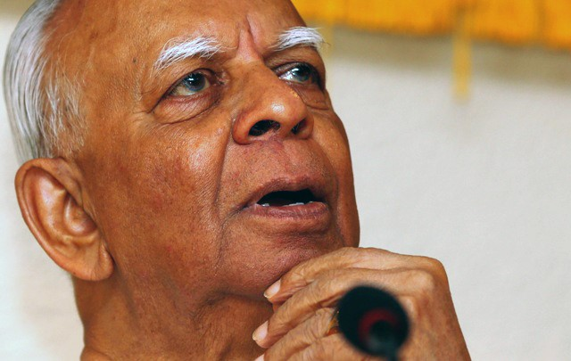 Tamil National Alliance leader Rajavarothayam Sampanthan, the leader of Sri Lanka's largest Tamil party