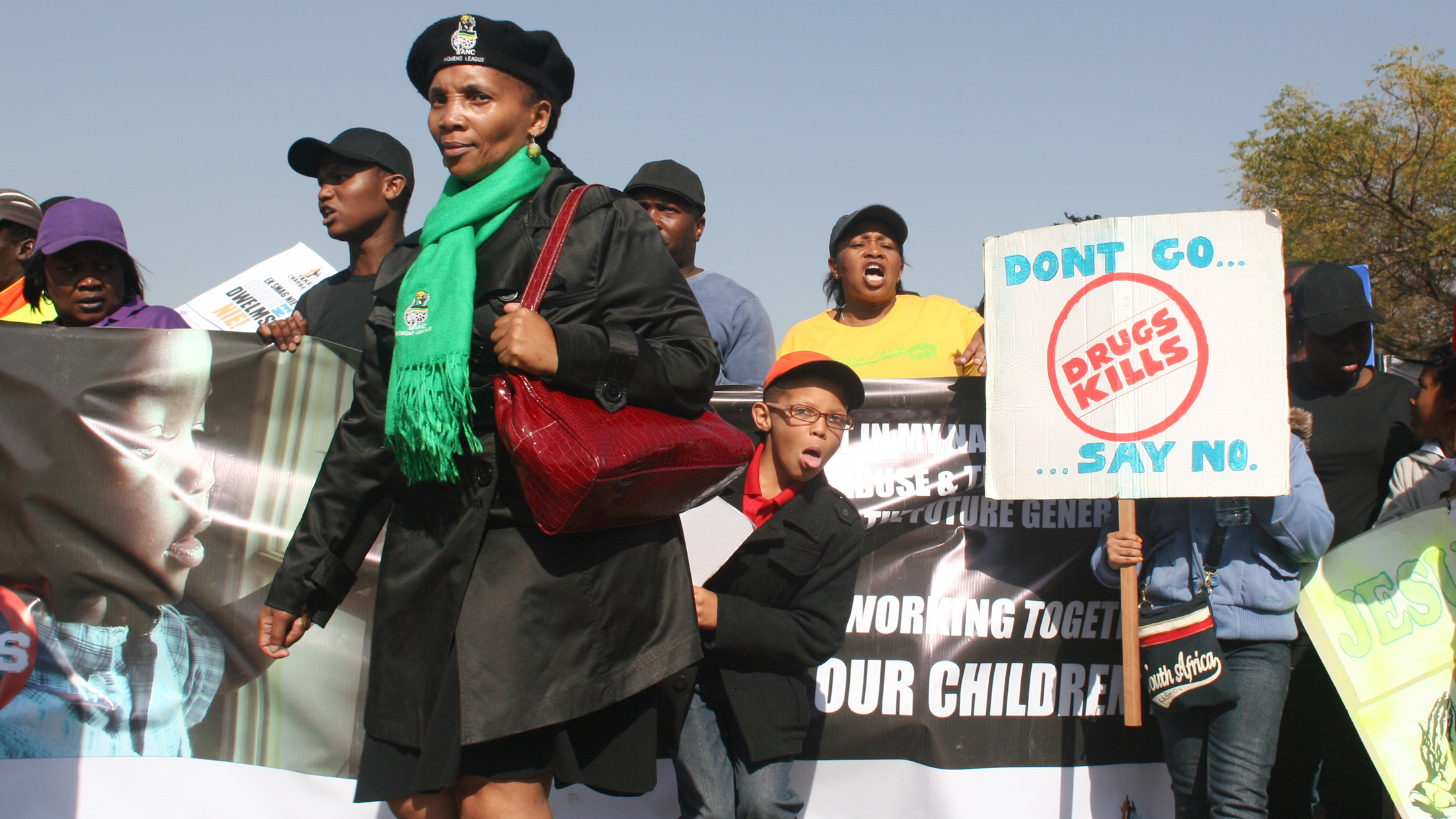 Anti-drugs demonstration in Eldorado park, Johannesburg (2 June 2013)
