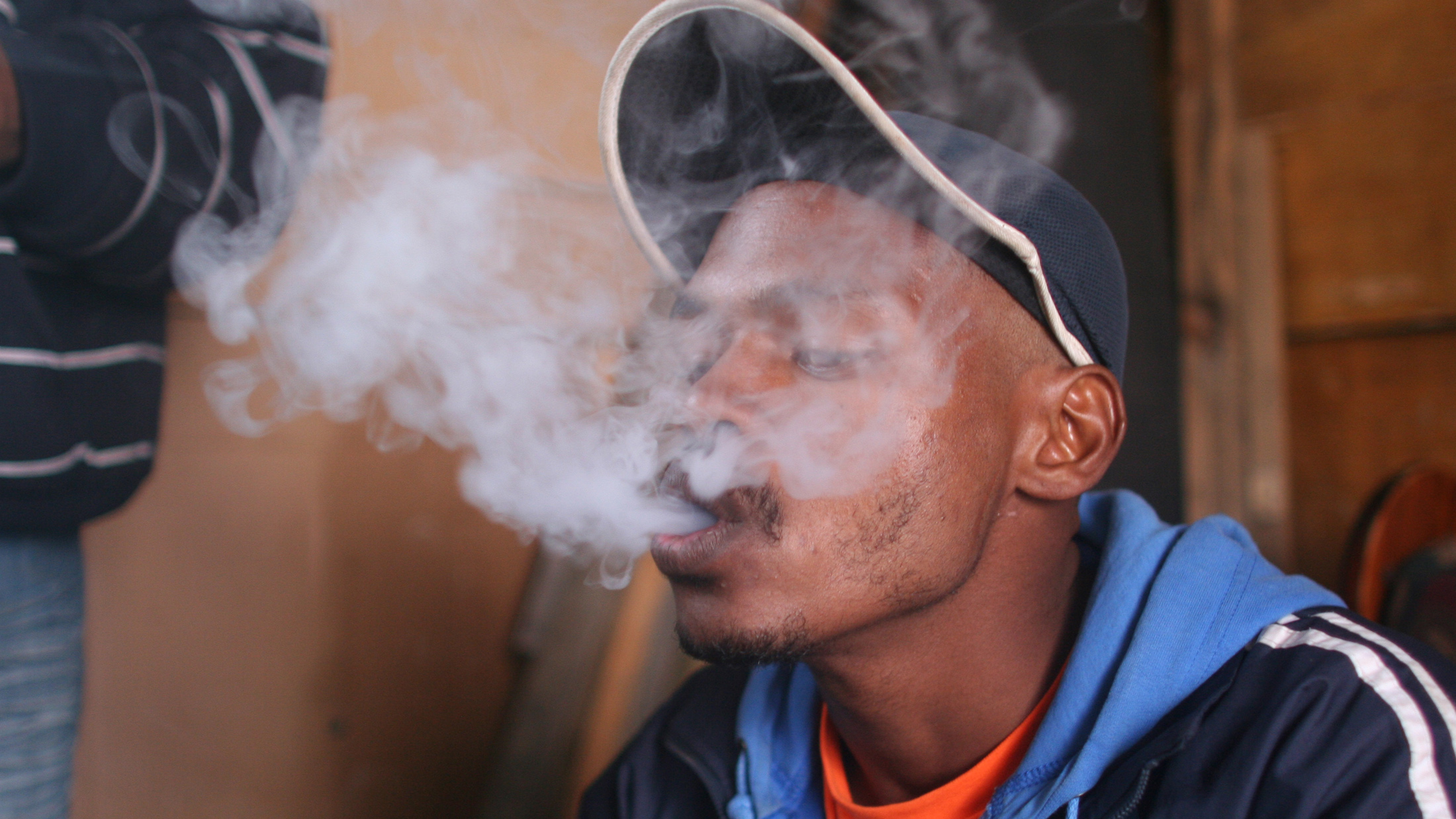 Smoking meths in Cape Flats, South Africa