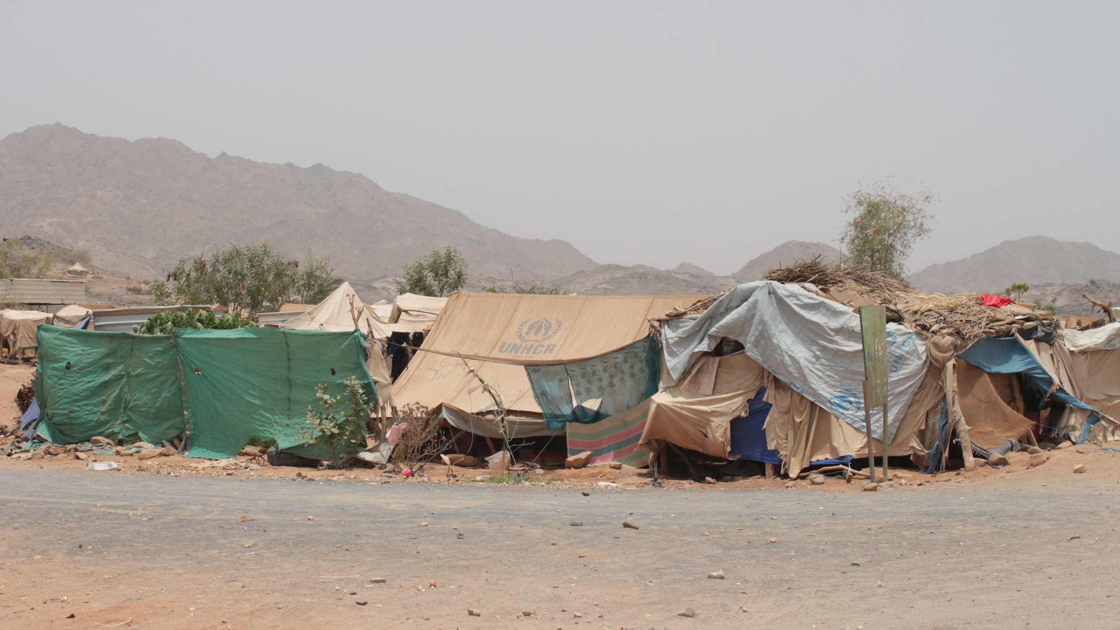 Mazraq camp, near Haradh for IDPs displaced by the six conflicts in northern Yemen between Houthi rebels and government forces