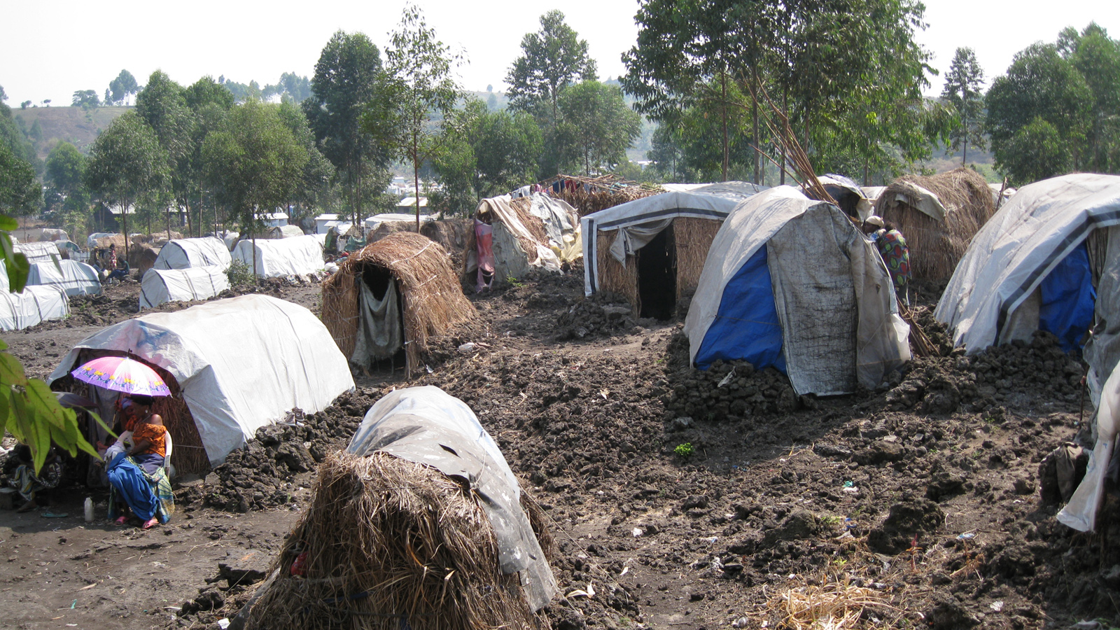 Mugunga 3, an IDP camp in the outskirts of Congolese eastern town of Goma