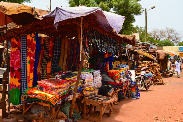 Market in Sevare, Mali July 2013